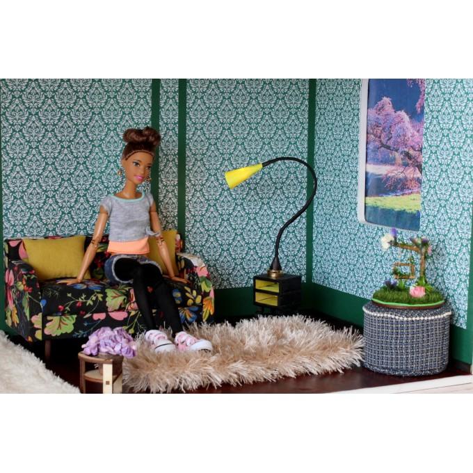 FREE DOWNLOAD dollhouse wallpaper green damask