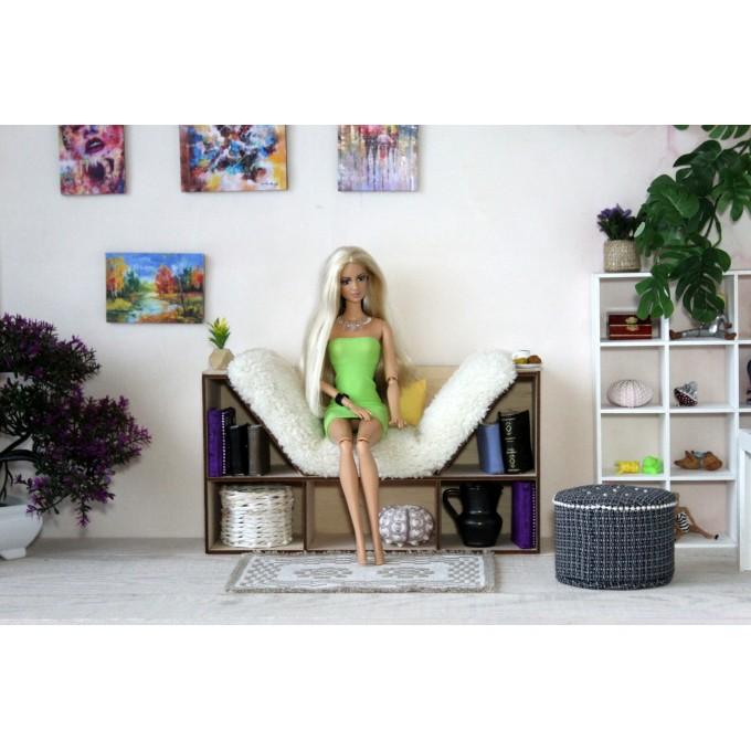 Bookcase chair 2 in 1 miniature dollhouse furniture