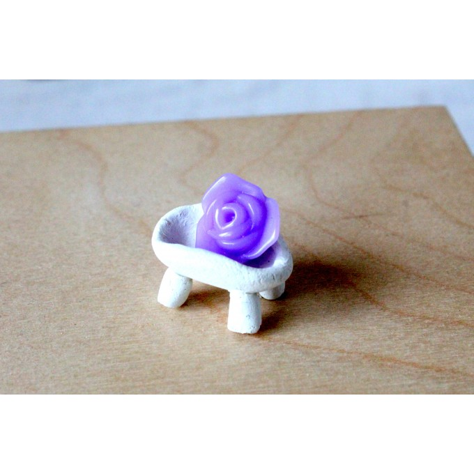 Miniature soap with bowl, dollhouse accessories