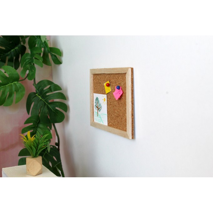 Miniature bulletin board for the dollhouse note