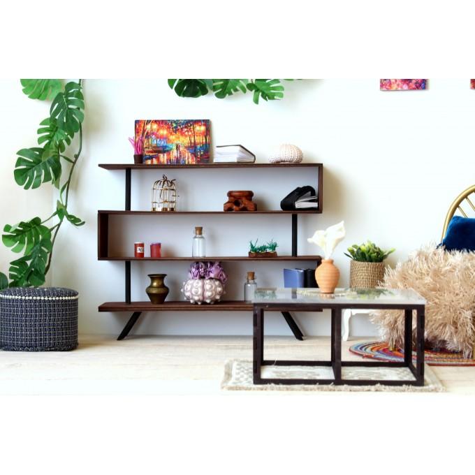 Miniature industrial bookcase, modern dollhouse