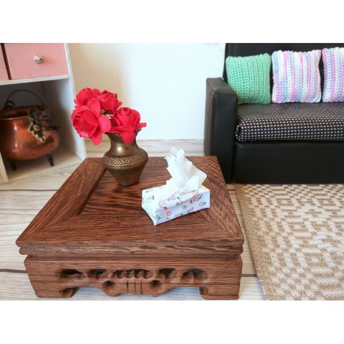 Miniature tissue box making tutorial FREE paper